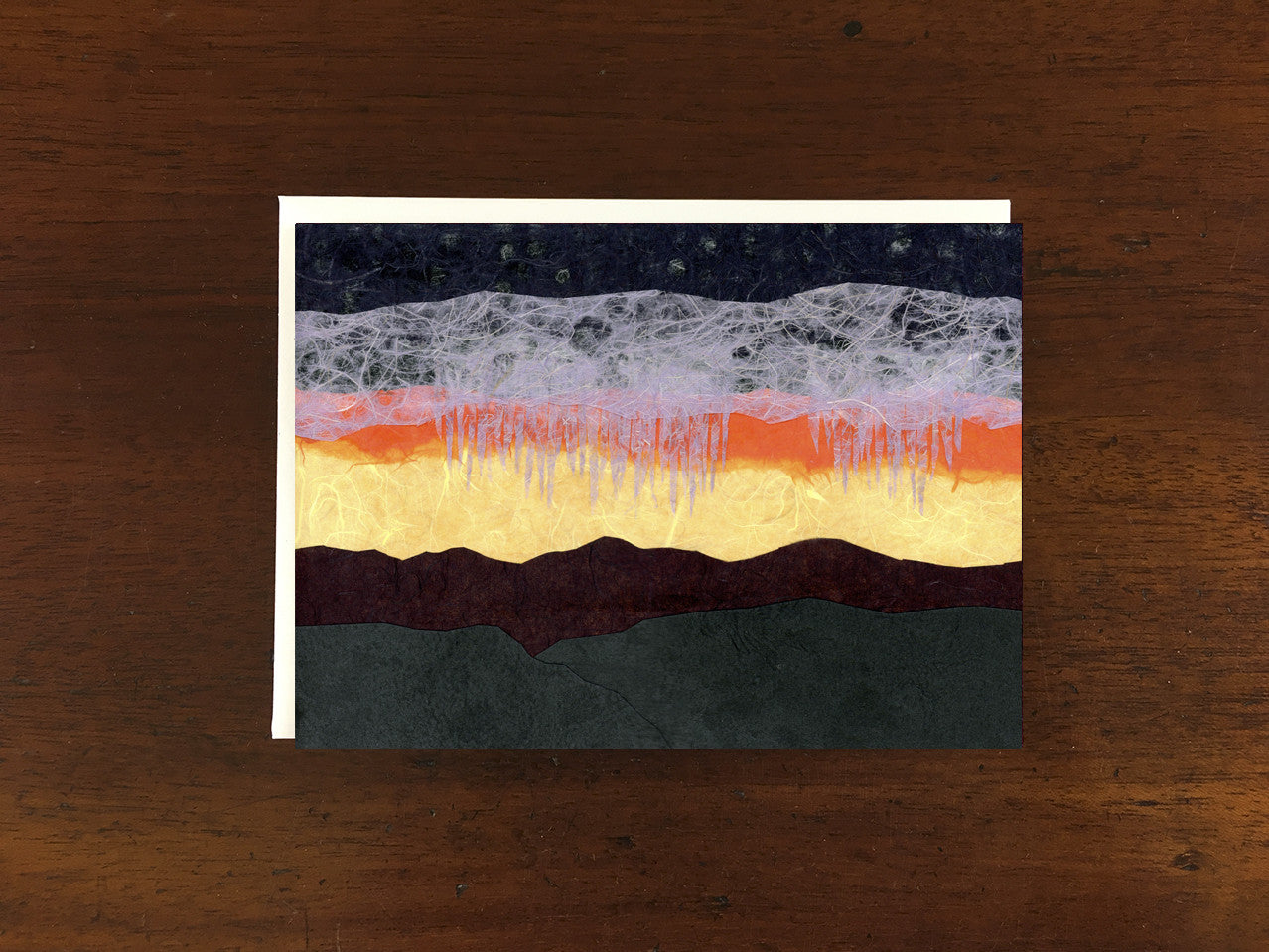 Desert Rain at Sunset Card
