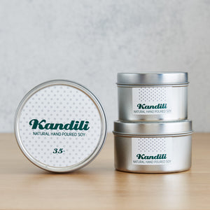 Silver tin (Green on White) - Kandili