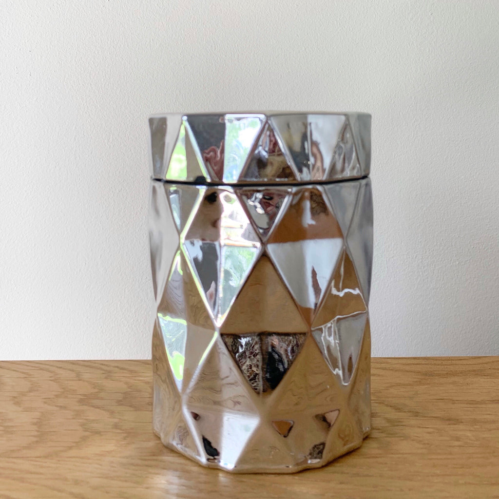 Diamond Cut Jar - Silver - Kandili