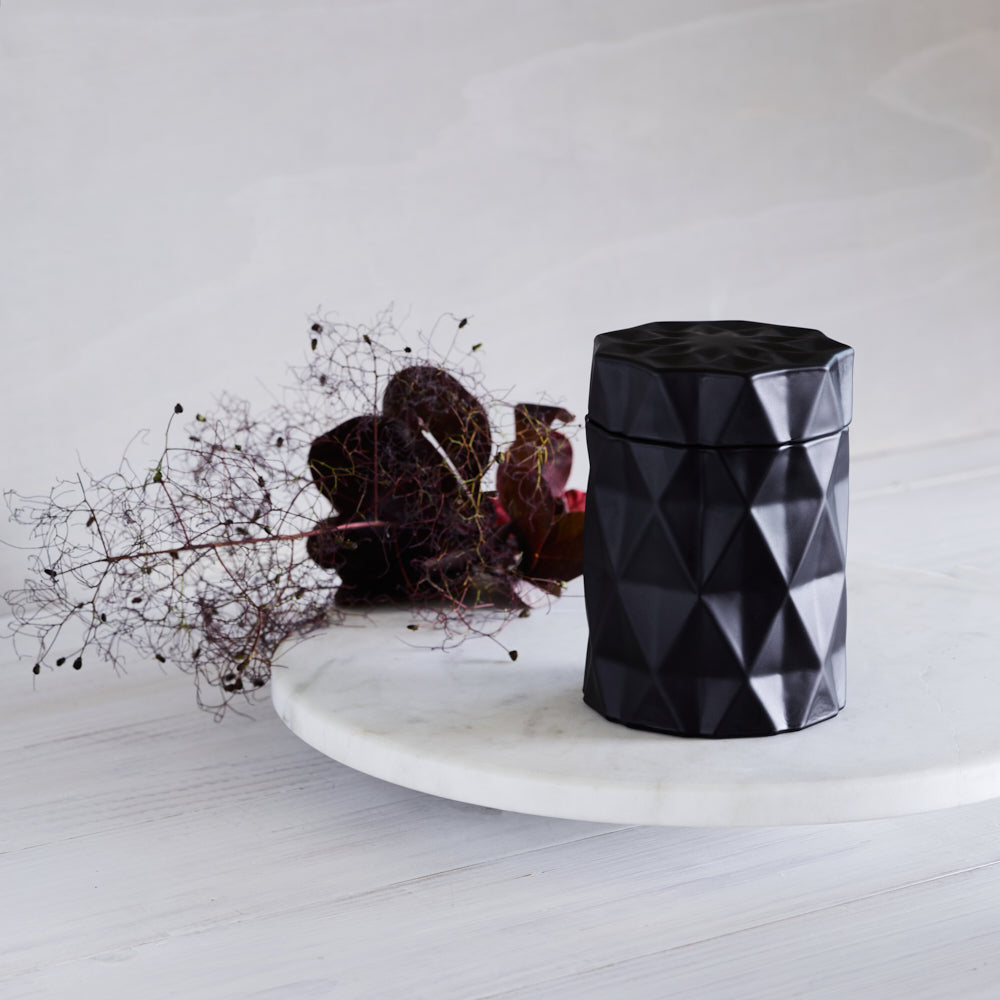 Kandili - Diamond Cut Jar - Matte Black
