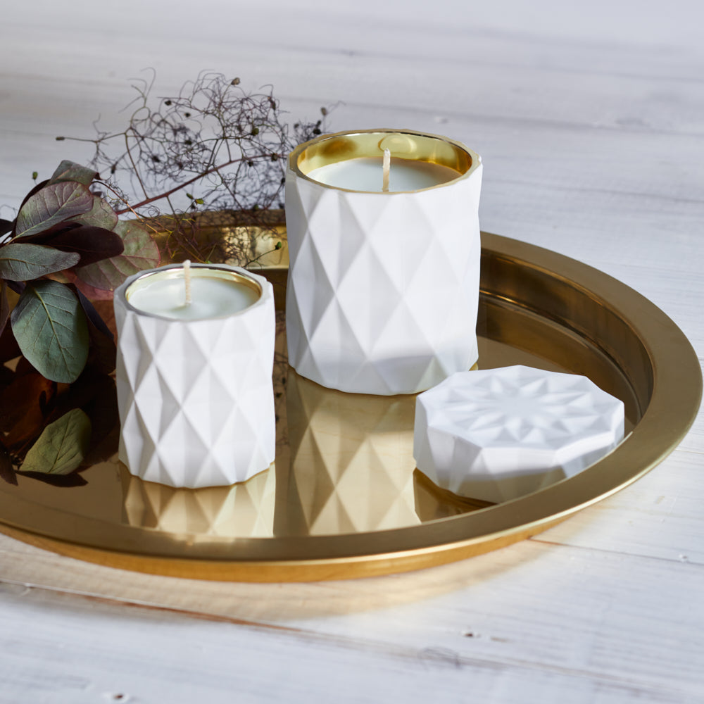 Kandili - Diamond Cut Jar - Lux White