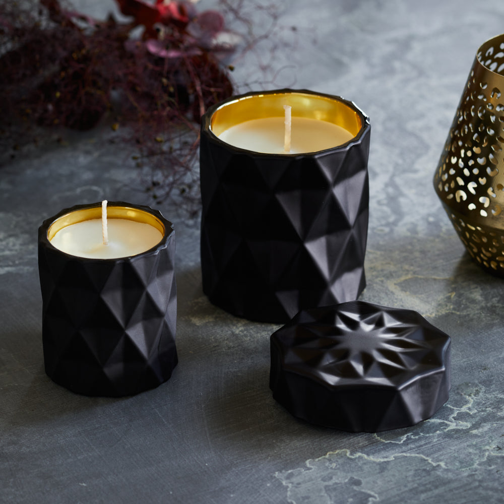 Kandili - Diamond Cut Jar - Lux Matte Black