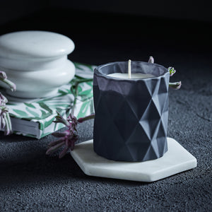 Kandili - Diamond Cut Jar - Matte Grey