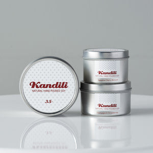Silver tin (Red on White) - Kandili