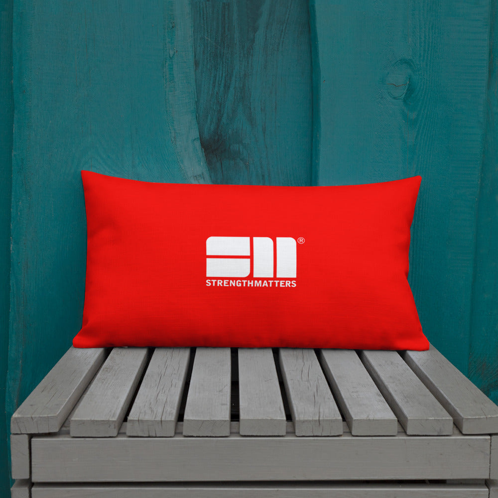 Strength Matters Premium Pillow (Red)