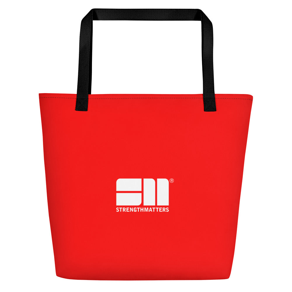Strength Matters Beach Bag (Red)
