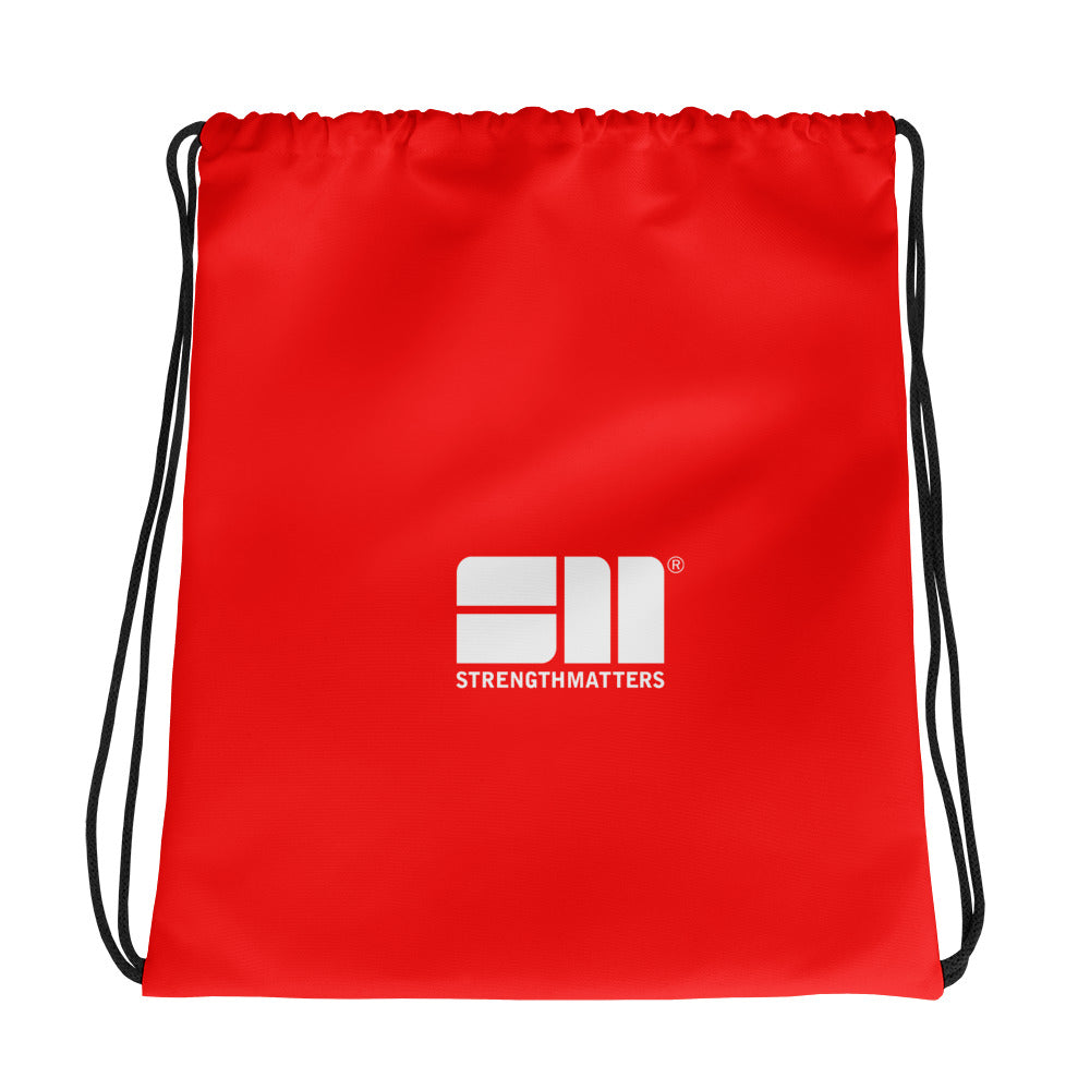 Strength Matters Drawstring Bag (Red)