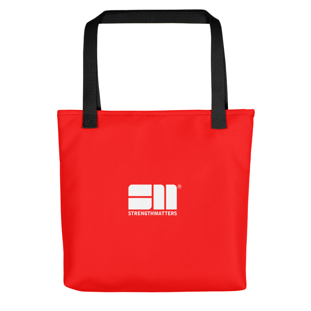 Strength Matters Tote Bag (Red)