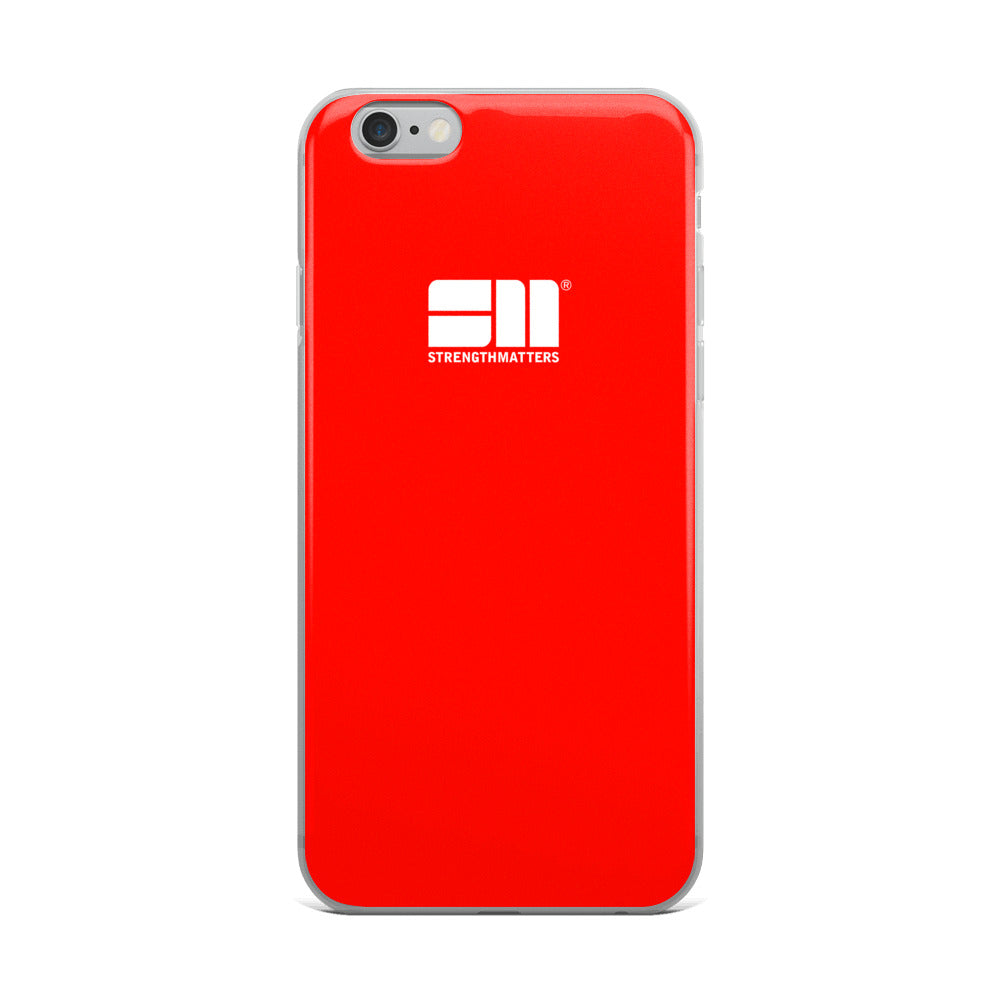 Strength Matters iPhone Case (Red)