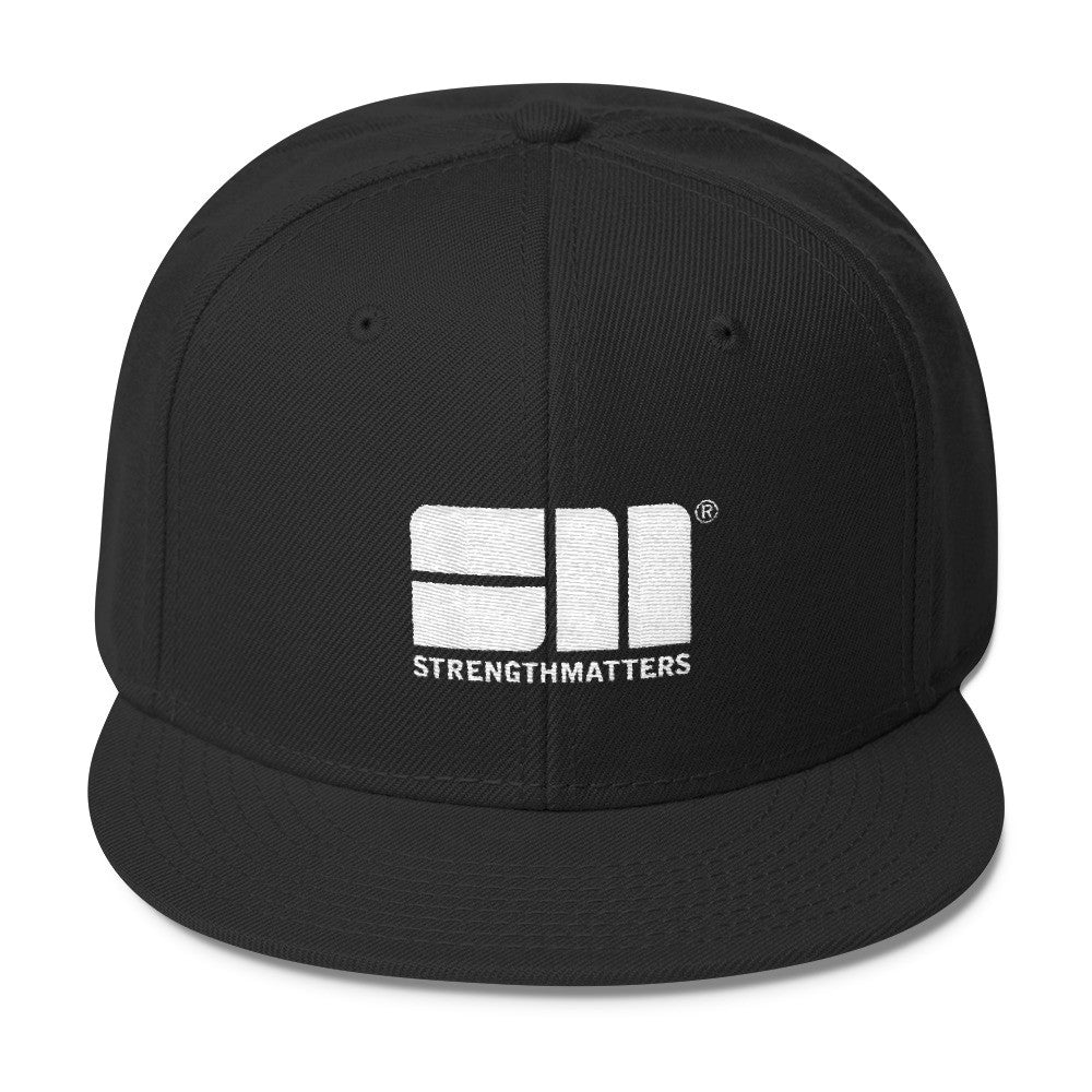 Strength Matters Wool Blend Snapback Hat