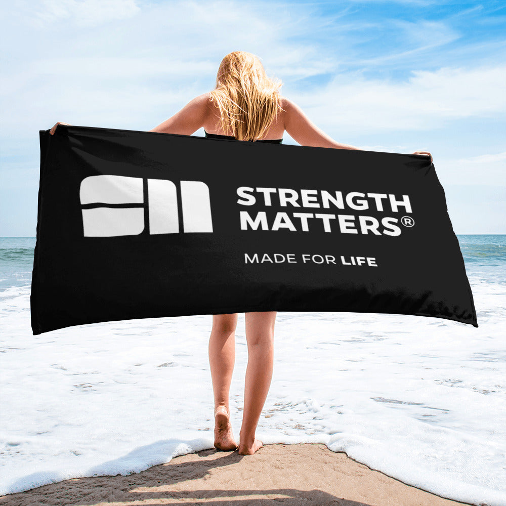 Strength Matters Beach Towel