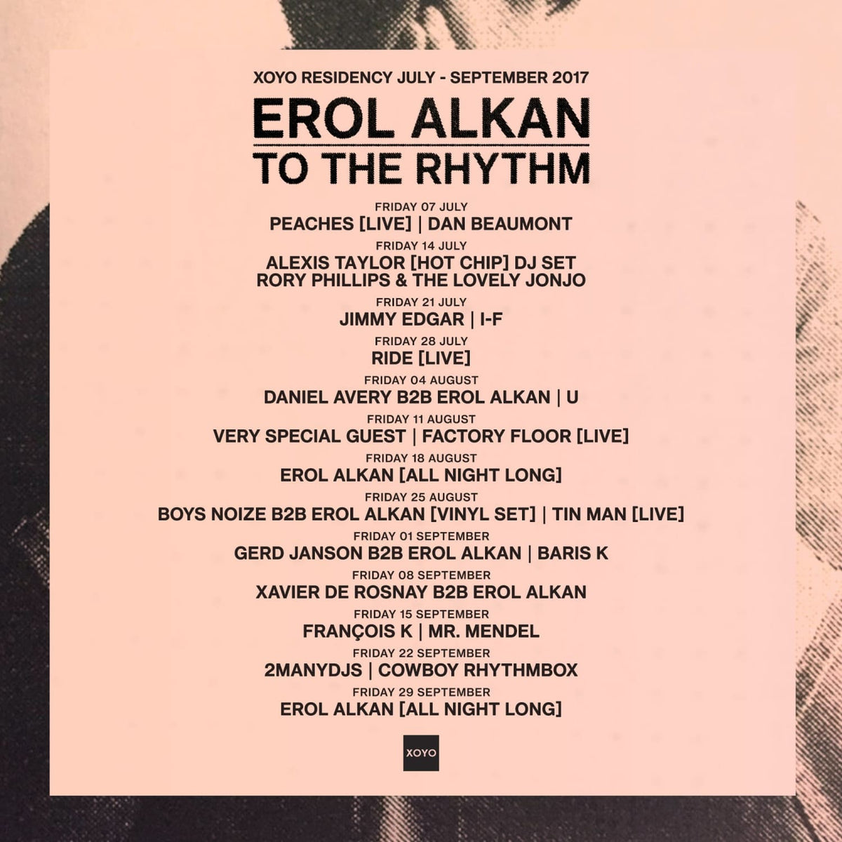 Erol Alkan Announces XOYO Residency