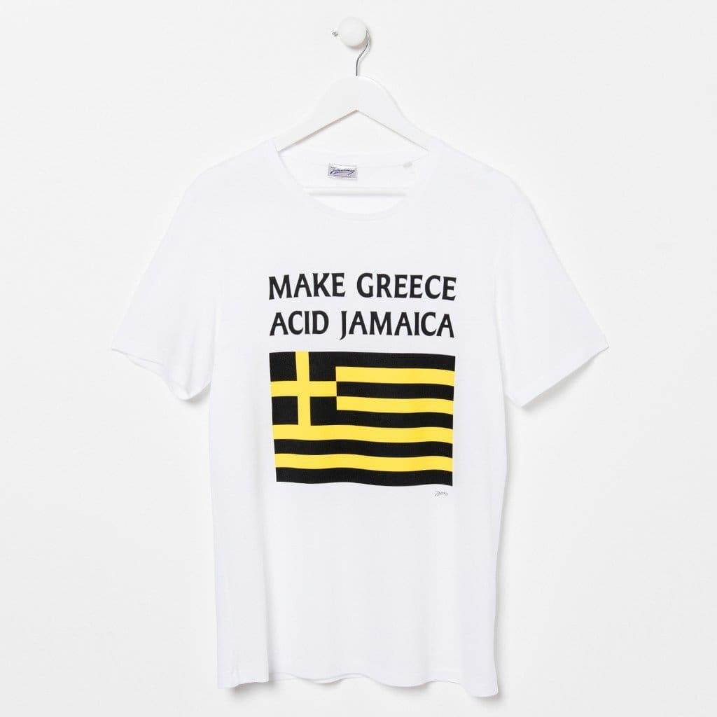 Mixmag Feature 'Make Greece Acid Jamaica' Shirt In Their Christmas Must-Haves