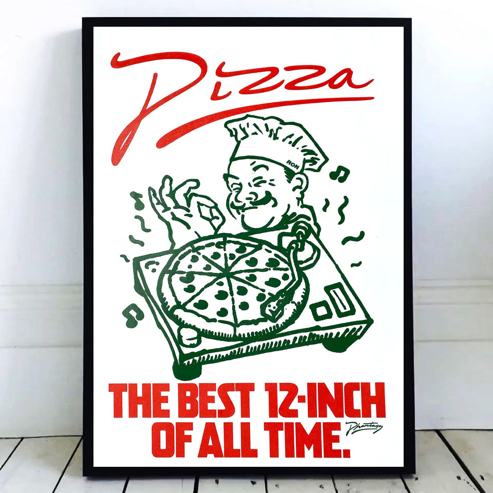 Pizza 'The Best 12-Inch Of All Time' Screen Print