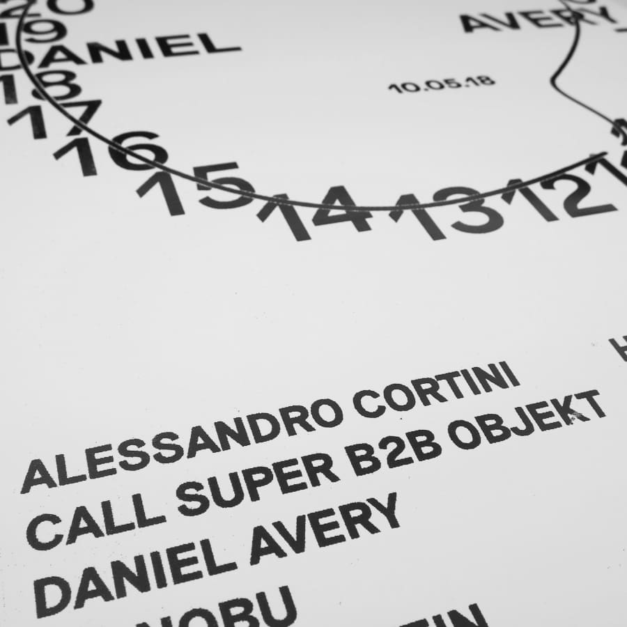 "Daniel Avery ""Nuits Sonores 2018"" Screen Print / Screen Print"