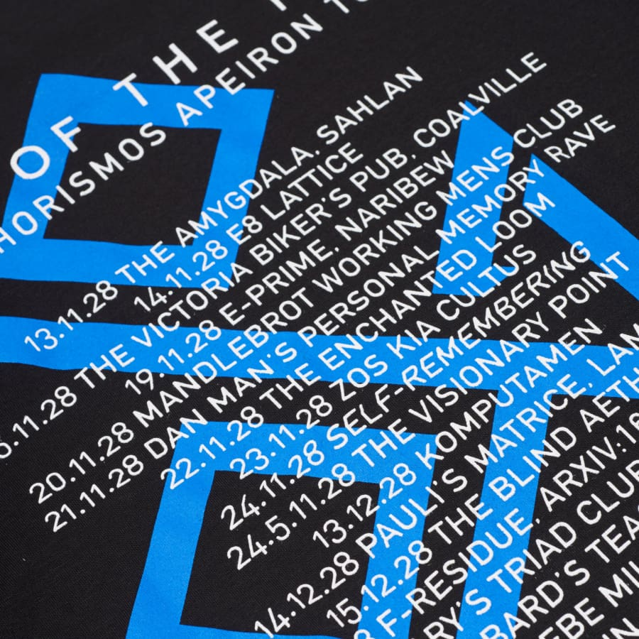 Late of The Pier 2028 Chorismos Apeiron Tour T-Shirt - T Shirt