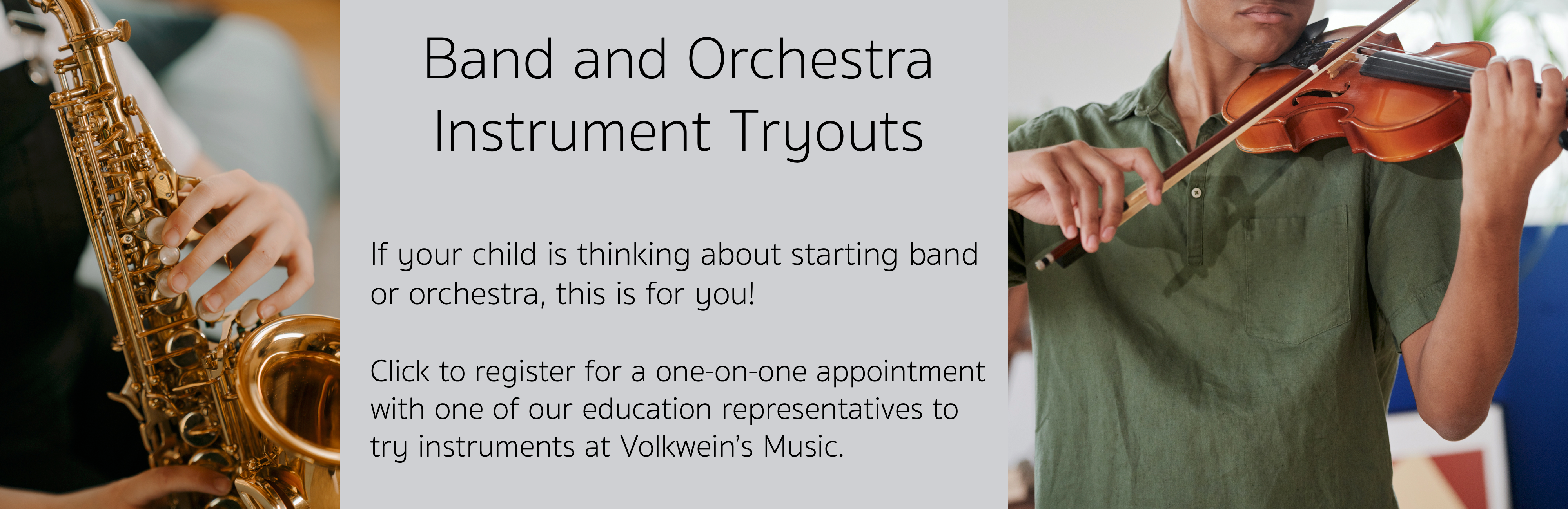 Instrument Tryouts