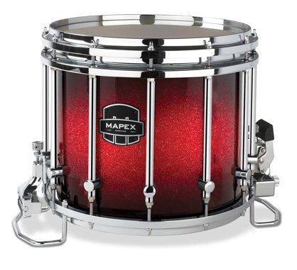 Mapex Quantum 14x12 Marching Snare Drum - Supernova Red Sparkle Burst Custom Lacquer - Chrome Hardware