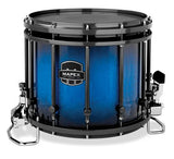 Mapex Quantum 14x12 Marching Snare Drum - Blue Galaxy Sparkle Burst Custom Lacquer - Black Hardware