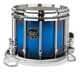 Mapex Quantum 14x12 Marching Snare Drum - Blue Galaxy Sparkle Burst Custom Lacquer - Chrome Hardware