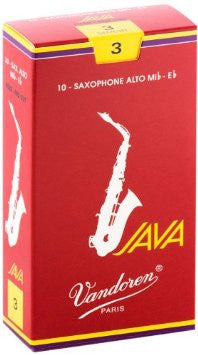 Vandoren Java Red Alto Sax Reeds (box of 10)