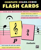 Complete Color-Coded Flash Cards, For All Beginning Music Students