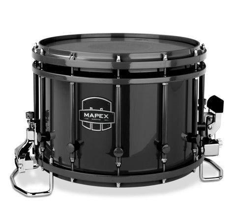 Mapex Quantum Agility 14x10 Marching Snare Drum - Black Gloss Wrap - Black Hardware