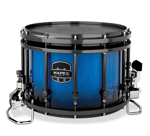 Mapex Quantum Agility 14x10 Marching Snare Drum - Blue Galaxy Sparkle Burst Custom Lacquer - Black Hardware