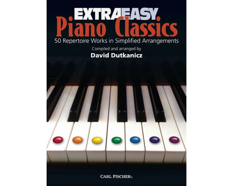 Extra Easy Piano Classics: 50 Repertoire Works in Simple Arrangements