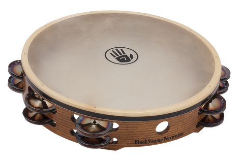 "Black Swamp SoundArt Series 10"" Double Row Calf Head Tambourine"