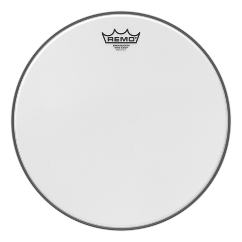 Remo Batter White Suede Ambassador Drum Head