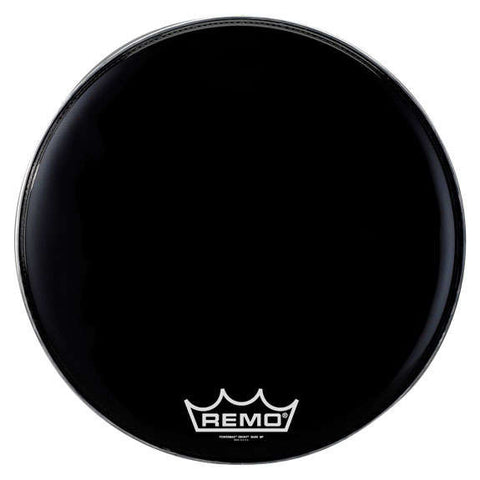 Remo Black Suede Powermax Marching Bass Drum Head