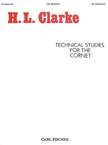 Technical Studies For The Cornet (Clarke)