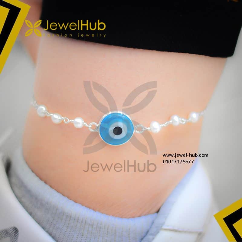 Simple blue eye anklet