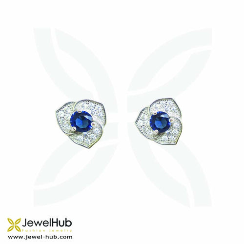 The twinkling earrings with embedded colorful stones.