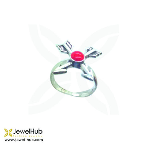 Red Double Arrow Ring, Ring - JewelHub jewelry