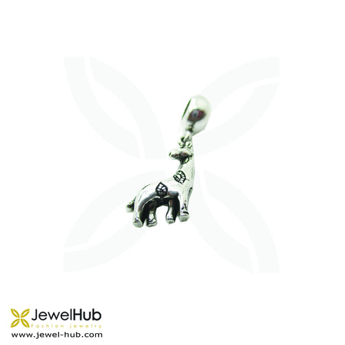 Delicately wrought Boho charm with giraffe.