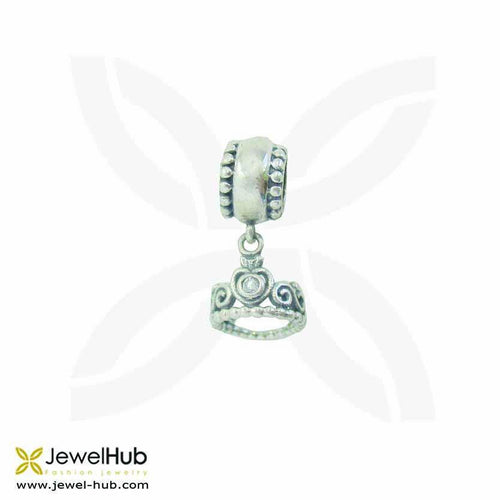 Ancient-styled sterling silver 925 charm with delicately wrought patterns in boho style.