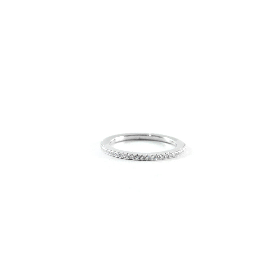 Tiny Band Silver Ring