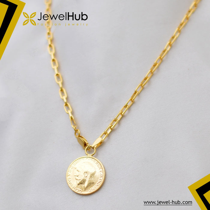 Coin Plated Gold Silver 925 Necklace