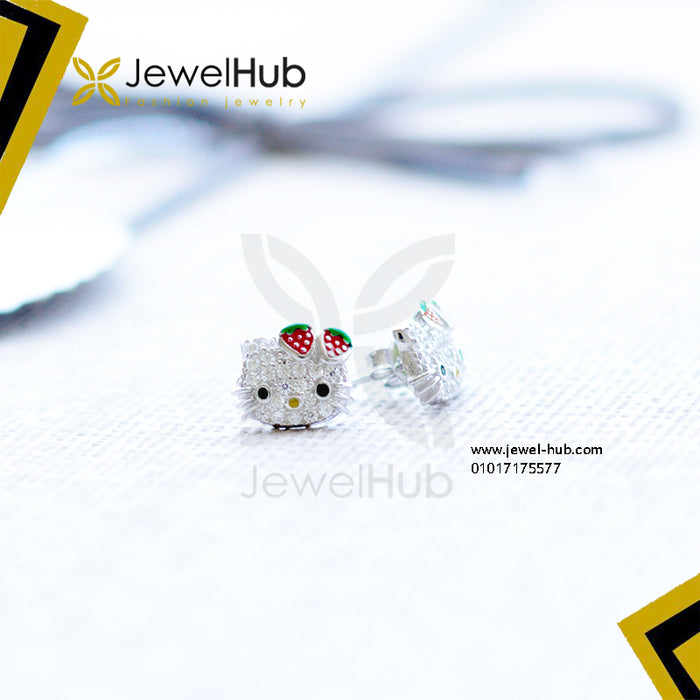 Simple hello kitty earrings