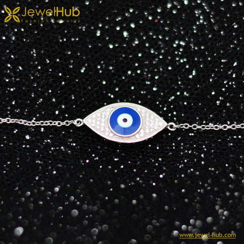 Lovely Eye Italian Silver Bracelet