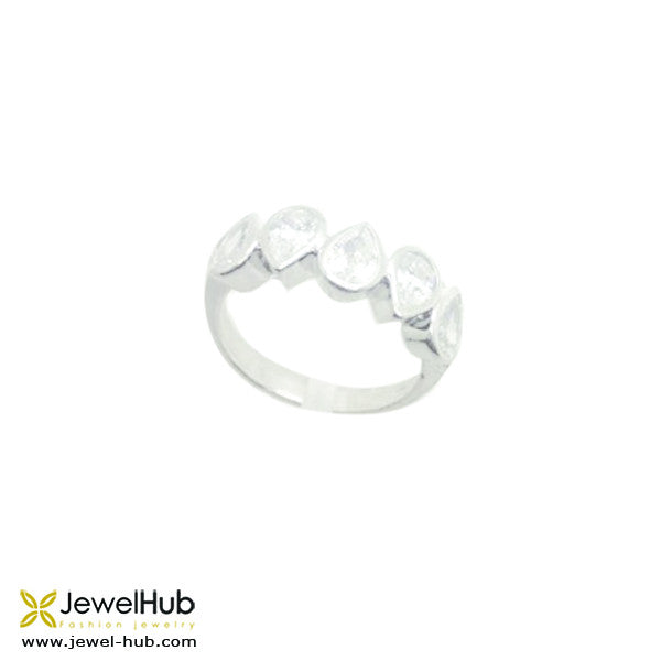 Pretty Diamond Stones Ring, Ring - JewelHub jewelry