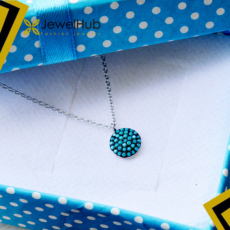 Blue simple necklace