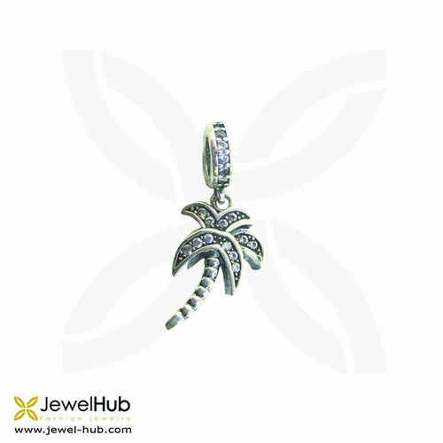 A palm charm with twinkling embedded crystals.