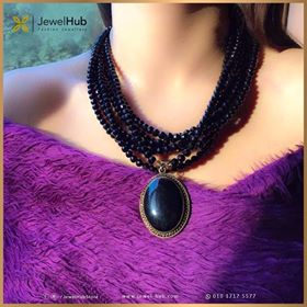 Black Agate Statement Necklace