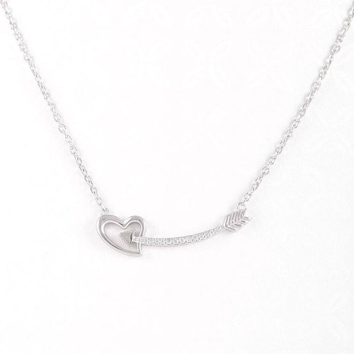 Arrow & Heart Necklace, Necklace - JewelHub jewelry