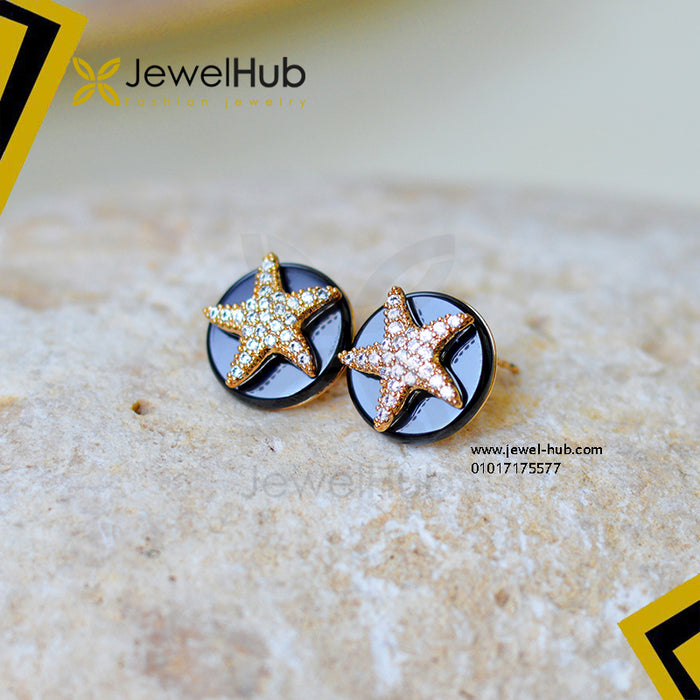 Black & Gold Sea Star Earring