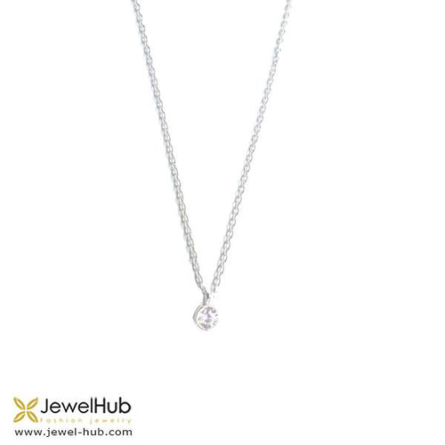 Twinkling diamond is embedded in sterling silver 925.