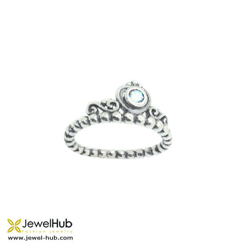 Delicately wrought Boho style ring with an 'eye' on it.
